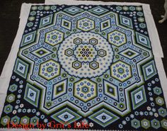 """La Passion"" Hexagon Quilt Top by Grit from Grit's Life"