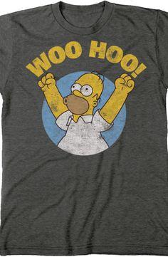 Homer Simpson Woo Hoo T-Shirt: The Simpsons Mens T-Shirt