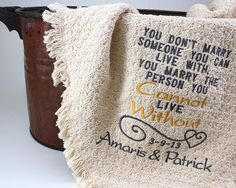 2nd Anniversary Cotton Gift Personalized by PersonalStitchGifts