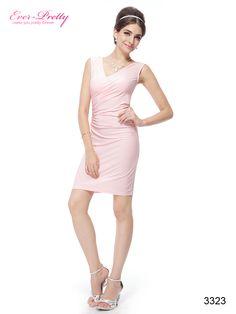 Sexy V-neck Pink Ruffles Button BNWT Cocktail Dress
