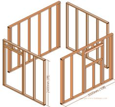 the shed wall-frames