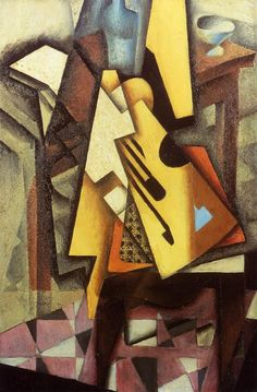 Guitar on a Chair by Juan Gris #art
