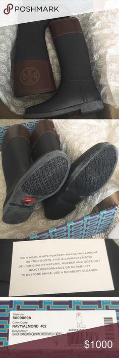 Tory Burch Classic Rainboot Rain Boot New in box; never worn.  No lowball, NO TRADE please ❤ Tory Burch Shoes Winter & Rain Boots
