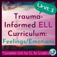 This all-encompassing curriculum provides everything needed to address the language needs of first-grade language learners suffering from traumatic pasts. Unit one covers the topic, feelings, and emotions. It is designed to encourage healing and successful language acquisition for ESL ELL EL EFL ES... Feelings Words, Feelings And Emotions, Learning Goals, Social Emotional Learning, Teaching Character Traits, Formative And Summative Assessment, Short Vowel Sounds, Language Acquisition, Name Activities
