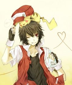 Image uploaded by Bianca. Find images and videos about pokemon, pikachu and ash on We Heart It - the app to get lost in what you love. Pokemon Rouge, Pokemon Red, Cute Pokemon, Anime Love, Anime Guys, Manga Anime, Anime Art, Hot Anime, Pikachu