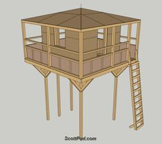 Plans for playhouse on stilts Build a special place for the kids with these free… Kids Playhouse Plans, Outside Playhouse, Backyard Playhouse, Build A Playhouse, Playhouse Kits, Backyard Playground, Simple Playhouse, Backyard Fort, Backyard Ideas