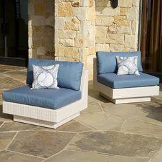 Portofino Comfort set of 2 Armless Chairs in Chalk $999.99