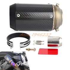 73.31$  Watch more here  - Performance Carbon Fiber Round slip-on Exhaust Muffler 125CC-1200CC Street/Sport/Racing motorcycles and Scooters