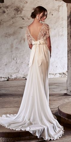 Amazing Anna Campbell 2018 Wedding Dresses ❤️ anna campbell 2018 vintage flowy open back embellishment shoulders with silk back bow wedding dresses adele ❤️ See more: http://www.weddingforward.com/anna-campbell-2018-wedding-dresses/ #weddingforward #wedding #bride #weddingdresses2018 #bridalgown