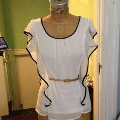 Bcx white blouse Bcx white blouse brand new never worn. BCX Tops Blouses