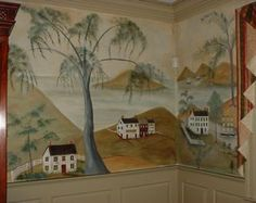 Beautifully painted murals
