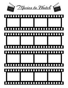 Bullet Journal Movies to Watch Planner Printable Movie Tracker Movie Log Film Log Printable Watch List Bujo Printable Planner Insert Journal Bullet Journal Mise En Page, Bullet Journal Inserts, Bullet Journal Inspo, Bullet Journal Movies To Watch, Movie Bullet, Bullet Film, Bujo, Deco Theme Cinema, Printable Planner Stickers