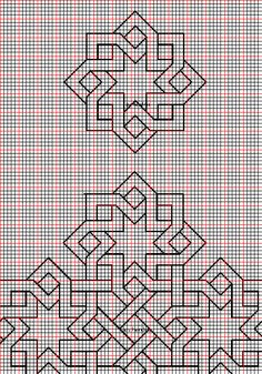 Mehr geometric design – My CMS Blackwork Patterns, Blackwork Embroidery, Doodle Patterns, Graph Paper Drawings, Graph Paper Art, Geometric Drawing, Geometric Art, Geometric Quilt, Islamic Art Pattern
