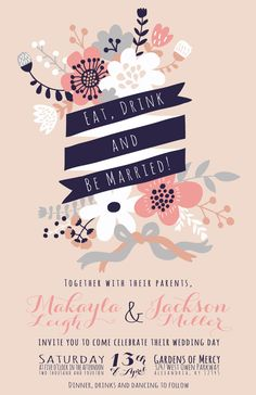 Thanks for checking out my blush pink and midnight blue floral wedding invitations! This listing is for a sample packet of my wedding