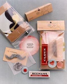 How about putting together a 'favours pack' for your guests? Full of mustaches, gum & thank you's!