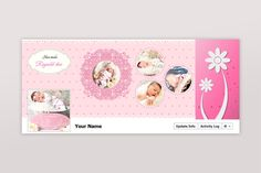 New baby Facebook timeline Template PSD