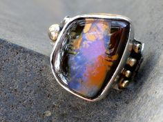 KOROIT OPAL AND STERLING  SILVER RING BY RIORITA