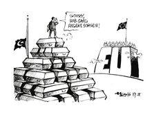 """OÖN-Karikatur vom 19. Februar 2016: """"Von Gipfel zu Gipfel"""" Mehr Karikaturen auf: http://www.nachrichten.at/nachrichten/karikatur/ (Bild: Haitzinger)"""