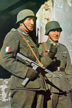 French Volunteer Legion in the Wehrmacht. These units were some of the last defending Berlin in 1945 but were reformed by then into the SS Charlemagne. They fought and defended the Führer's bunker and were reduced to less then 75 men. They started with around 10,000.