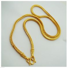 Your place to buy and sell all things handmade 18k Gold Chain, Gold Plated Necklace, Gold Bangles, Gold Jewellery, Gold Chain Design, Gold Earrings Designs, Gold Chains For Men, Neck Chain, Thalia
