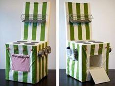Einen einfachen Stuhl in eine Kinderküche verwandeln