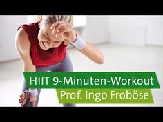 HIIT - High Intensity Interval Training mit Prof. Ingo Froböse: 9-Minuten-Workout. In diesem Echtzeit-Workout müsst ihr in 9 Minuten alles geben - ein zeitsp...