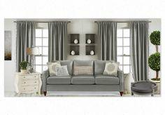 #Gray Delaney Sofa by La-Z-Boy, Hidden Treasure Chest by Hammary by La-Z-Boy, Pet Bed by Uttermost