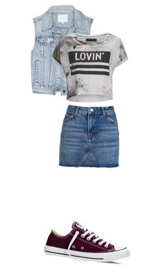 """#238"" by xmartina on Polyvore featuring moda, Talula, Religion Clothing, Converse i Topshop"