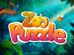 toy logo Zoo Puzzle - iOS Game Logo by Valeria Game Font, Game Ui, Video Game Logos, Kid Fonts, Toys Logo, Game Logo Design, Cartoon Logo, Color Games, Doodle Coloring
