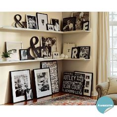 """love the """"&"""" signs mingled with the photos"""