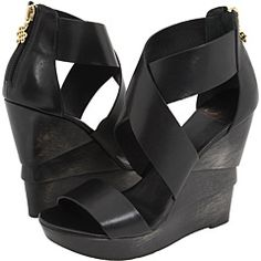 I'm really NOT a shoe girl, but WOW! I could swayed with these! Diane Von Furstenberg Opal Black Soft Vacchatta $295