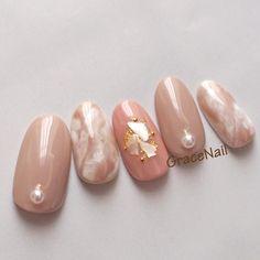 オールシーズン/オフィス/デート/女子会/ハンド - GraceNailのネイルデザイン[No.4025045]|ネイルブック Pastel Pink Nails, Pink Nail Art, Pink Acrylic Nails, Cute Acrylic Nail Designs, Gel Nail Designs, Beautiful Nail Designs, Marble Nails Tutorial, Korean Nail Art, Nail Art Designs Videos