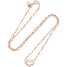 Jemma Wynne 18-karat Rose Gold Diamond Necklace mebbeRadld