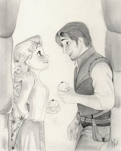 Here is a drawing I did of Rapunzel and Flynn from Disney's Tangled. the drawing is in graphite mechanical and pencil. Rapunzel and Flynn (Tangled Graphite Drawing) Disney Drawings Sketches, Girl Drawing Sketches, Disney Princess Drawings, Disney Princess Art, Girly Drawings, Art Drawings Sketches Simple, Disney Fan Art, Cartoon Drawings, Princess Merida