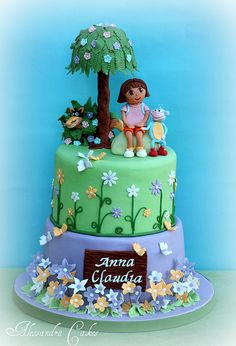 Dora cake by Alessandra Cake Designer, via Flickr
