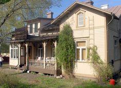 Loviisa, Finland Window Trims, German Houses, Scandinavian Countries, Old Houses, My Dream Home, Porches, Decks, Buildings, Nostalgia