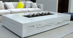 Outdoor concrete fire table by Seth Ernsdof | CHENG Concrete Exchange