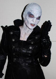 Maquillaje de extraterrestre