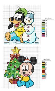 Baby Goofy & Mickey