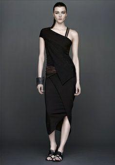 Geometric top (OD clove - $695) Straight skirt (OD clove - $596)