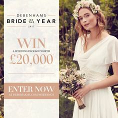 WIN a Debenhams wedding package worth From beautiful outfits and accessories for the bridal party, to a dream Virgin Holidays honeymoon worth we'll supply all you need to make it a day to remember. Win A Wedding, Wedding Mood Board, Summer Wedding, Wedding Planning, Dream Wedding, Woodland Theme Wedding, Wedding Themes, Wedding Ideas, Winter Wedding Outfits