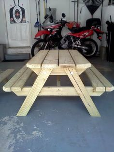 Children's Wood Picnic Tables  The Tristen by NaptimeWoodworks, $75.00