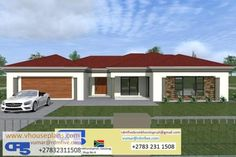 Tuscan House Plans, Family House Plans, Dream House Plans, Dream Houses, Flat Roof House Designs, Best Exterior House Paint, Single Storey House Plans, House Plans South Africa, House Plans With Pictures