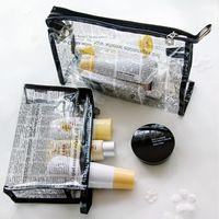 2 unids/par Simple Moda Bolsa de Cosméticos A Prueba de agua de PVC Transparente Bolsa de Lavado Bolsa de Almacenamiento Cosmética Maquillaje Organizador Clasificación