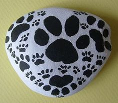 Painting Rock & Stone Animals, Nativity Sets & More: Rock Painting Idea: Animal Prints
