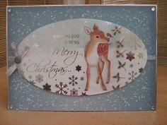Handmade Christmas Card - Cute Christmas Deer A5   Kibbs Cards MISI Handmade Shop