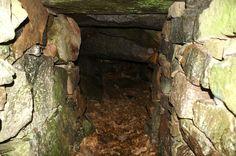 De grot van Nils Dacke. De goeie man had een conflict met Koning Gustav en verschool zich lange tijd in deze grot. Een natuurlijke grot. Mooier en beter gemaakt door Nils. Torsas kommun.