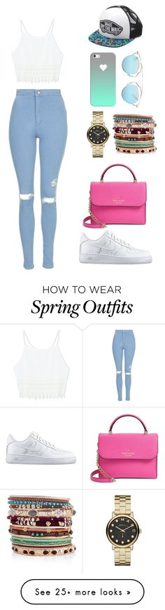 """""""Spring"""" by jessicabiazi on Polyvore featuring Topshop, NIKE, Marc by Marc Jacobs, Accessorize, Kate Spade, Vans, Christian Dior, Casetify, Spring and springfashion"""
