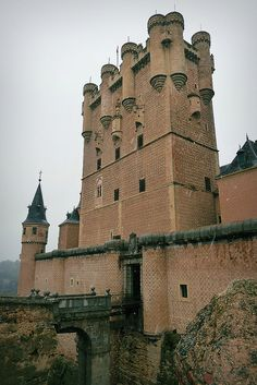C0148. Alcazar of Segovia. Fortress built when Segovia was the capital of Moorish Spain. Completed by King Pedro I in the 14th century.
