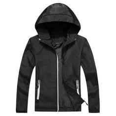 4240ad0129825 WENYUGH Jacket Men Windbreaker 2018 Spring Autumn Fashion Jacket Men's  Hooded Casual Jackets Male Coat Thin Mens Coats Outwear